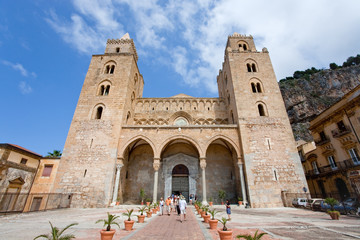 Cathedral in Cefalu, Sicily, Italy