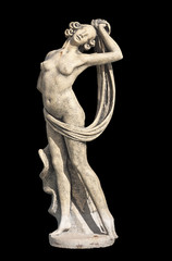 Greek archaic statue of Aphrodite located at Kefalonia