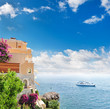 Mittelmeerküste. Schöne Landschaft bei Nizza