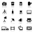 Icons set photography