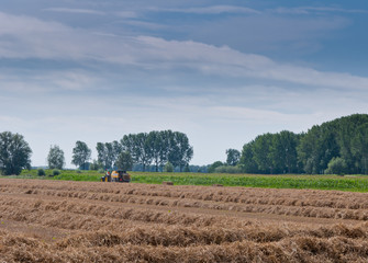 Hay baling in the Netherlands