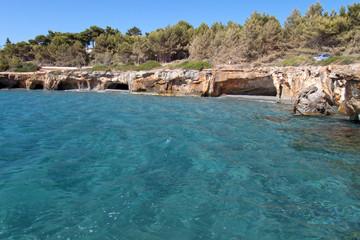 'Gradakia' beach at Argostoli of Kefalonia island in Greece