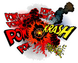 Fototapety Cartoon war explosions