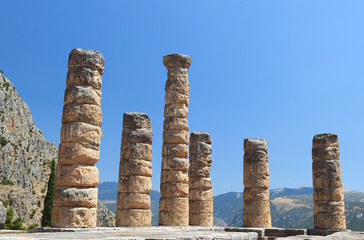 Temple of Apollo at Delphi oracle in Greece