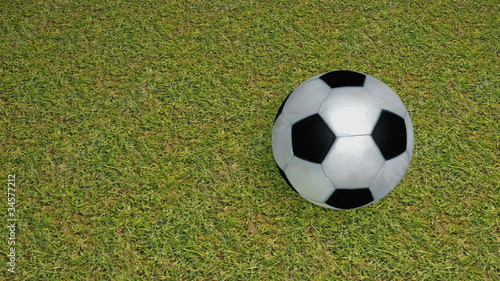 3D Rolling Soccer Ball 1 loop