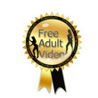 Gold Free Adult Video Button