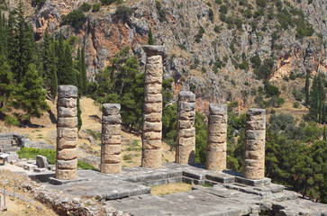 Temple of Apollo at ancient Delphi in Greece