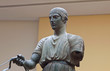 Charioteer statue located at Delphi museum in Greece
