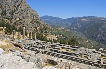 Temple of Apollo at Delphi oracle in Greece