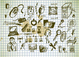 hand drawn computer icons