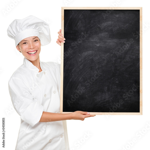Chef showing sign