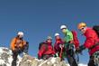 Alpinisten am Gipfel