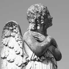 antique cemetery angel figure