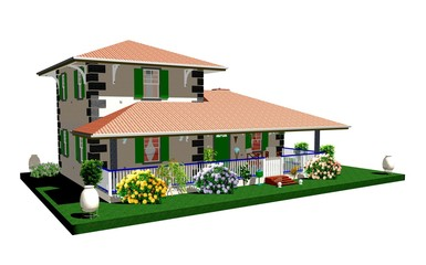 Casa Rustica Campagna-Country House-1-3D