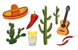 Fototapete Zeichnung - Mexico - Andere Objekte