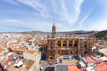 Blick auf Malaga mit Kathedrale, Spanien