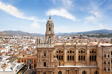 Blick auf Kathedrale von Malaga, Spanien