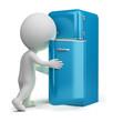 3d small people - retro fridge