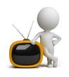 3d small people - retro tv