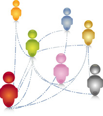 Social network people connection illustration