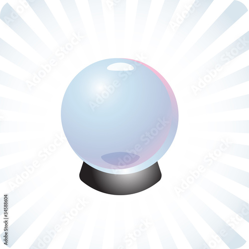 Future prediction crystal ball illustration