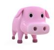 豚のCG_斜め