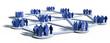 canvas print picture - Soziale Netzwerke mit Gruppen von Menschen