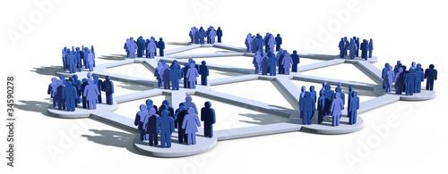 canvas print picture Soziale Netzwerke mit Gruppen von Menschen