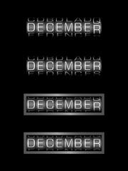 DECEMBER counter calendar - english month