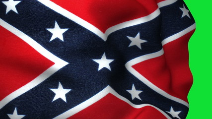 Confederate Flag in Green Screen
