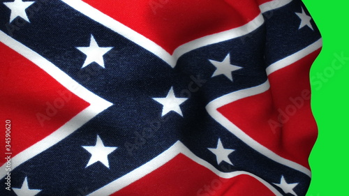 Confederate Flag in Green Screen