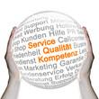 Service Qualität Kompetenz Glaskugel