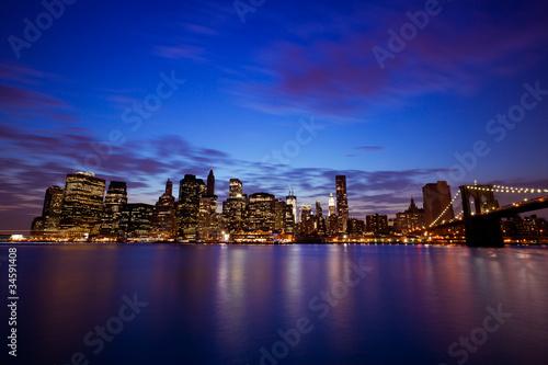New-York Manhattan Pont de Brooklyn