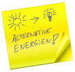 Haftnotiz - Alternative Energien