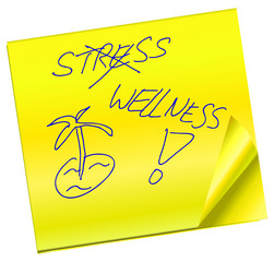 Haftnotiz - Stress - Wellness