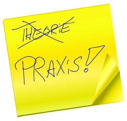 Haftnotiz - Theorie - Praxis