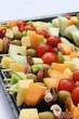 Brochette de fruits et fromage
