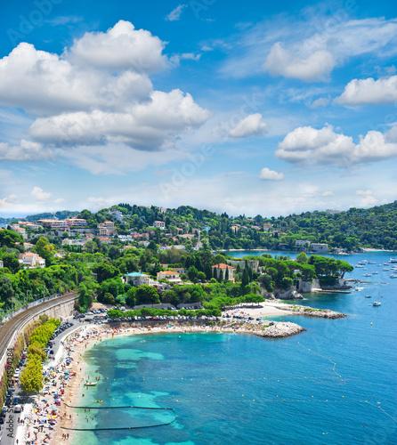 Mittelmeerküste. Schöne Landschaft auf Cote d'Azur