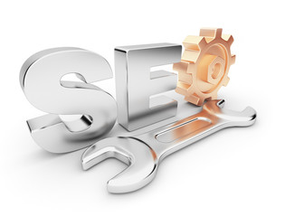 SEO optimization. Business in internet.  3D illustration. Isolat