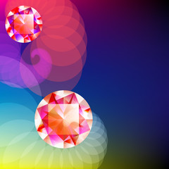 Gem on abstract background