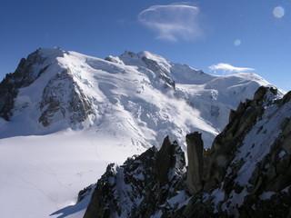 Mont-Blanc-Massiv von der Aiguille du Midi aus