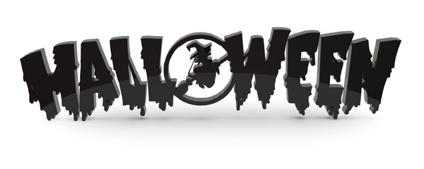 halloween text symbol 3d