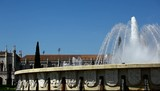 Fountain located in the Belem district of Lisbon Portugal