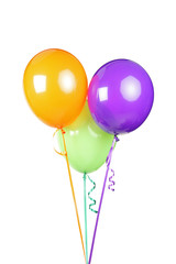 Studio shot of three balloons