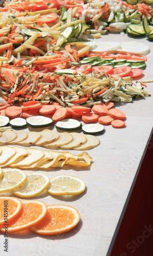 Fruits & légumes en tranches
