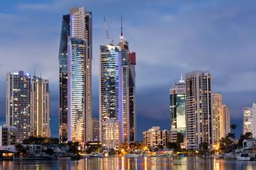 modern city at twilight