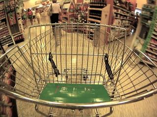 Speeding shopping cart
