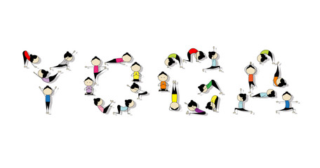 Yoga practice, concept for your design