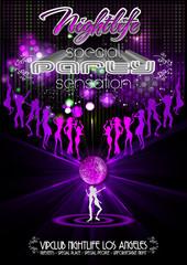 Partyflyer Lasershow