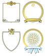 gold Wappen und Schilder